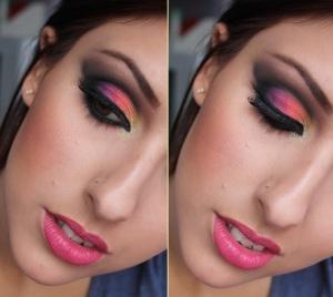 maquiagem-cut-crease-cores-diferentes