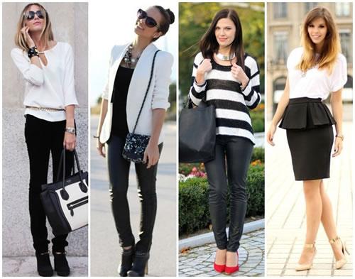 Tendência roupas preto e branco